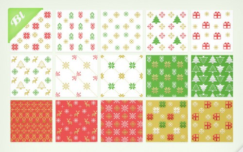 15 Christmas Pixel Patterns