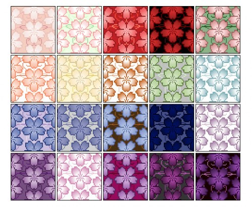 20 Pixel Cherry Blossom Patterns