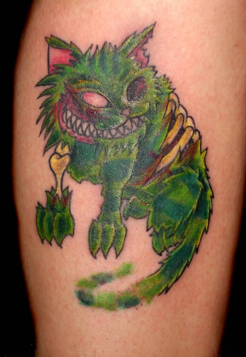 Zombie Cheshire Cat Tattoo