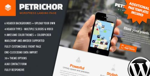 Petrichor - Responsive WordPress Landing Page