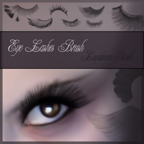 Set of 10 Eye Lashes Brushes