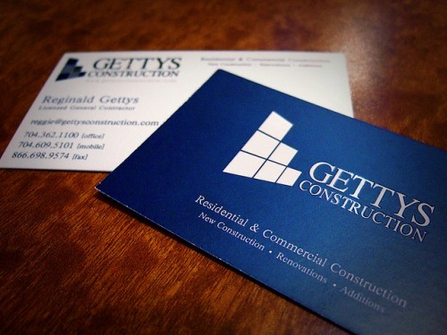 Business Card - Gettys Construction