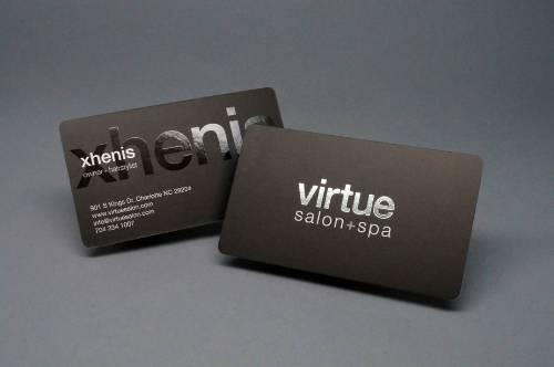 Business Cards Spot UV Foil