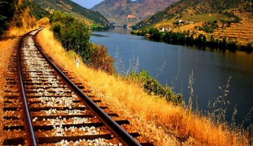 Railroad Alongside to River
