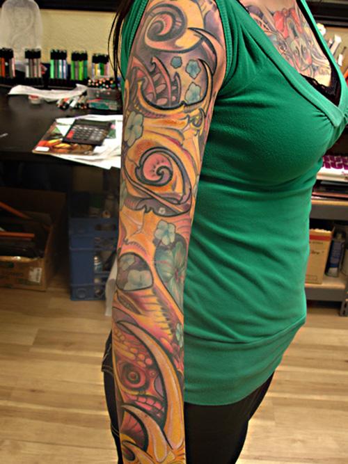 Feminine Sleeve Tattoo Design