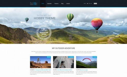 Hobby - Personal Blog WordPress Theme