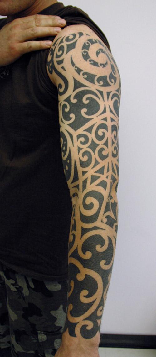 Maori Sleeve Body Art 2013