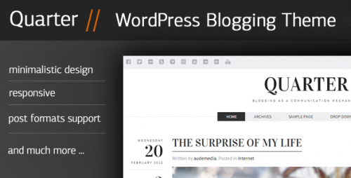 Quarter - Responsive WP Blogging Theme