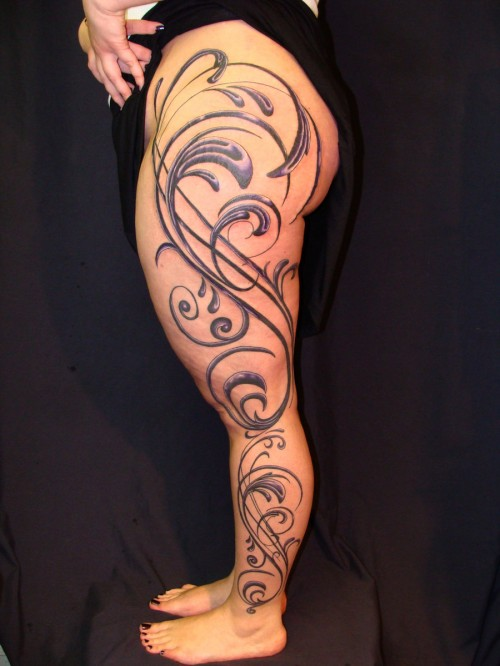 Vector Leg Sleeve Tattoos
