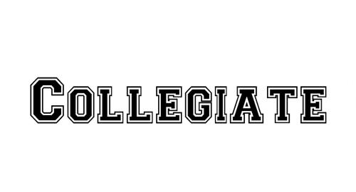 Collegiate Heavy Outline