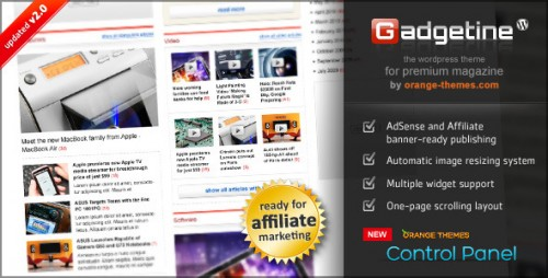 Gadgetine WP Theme for Premium Magazine