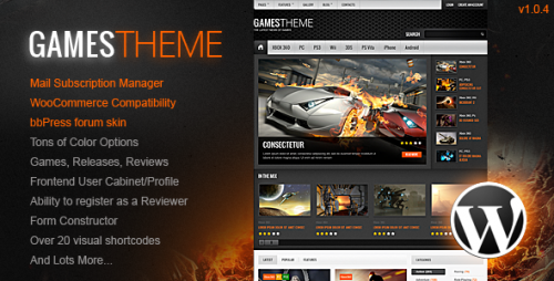 GamesTheme Premium WordPress Theme