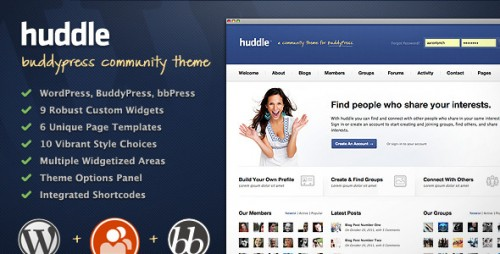 Huddle - WP & BuddyPress Community Theme