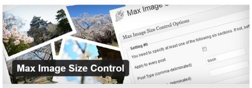 Max Image Size Control