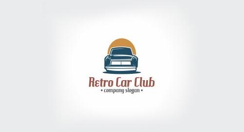 Retro Car Club Logo