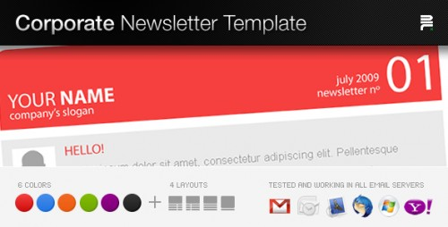 Corporate Newsletter Template