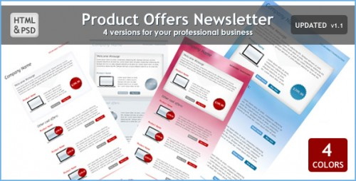Product Offers Newsletters