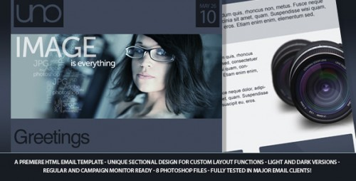 Uno Email Newsletter Template