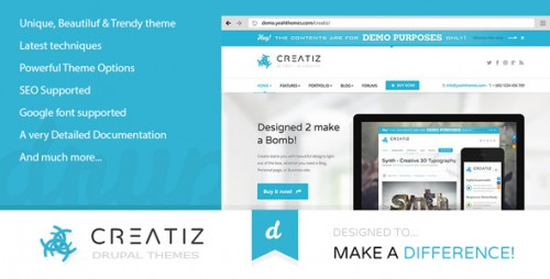 Creatiz - Trendy Beautifully Drupal Theme