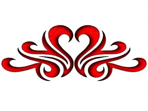 Tribal Red Hot Heart Band