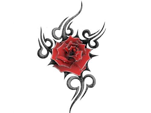 Tribal Rose Burst