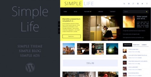 Simple Life - WordPress Blog Theme