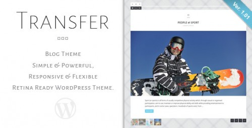 Transfer - Retina Responsive WP Blog Theme