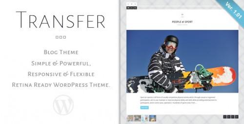 Transfer - Retina Responsive WP Blog Theme