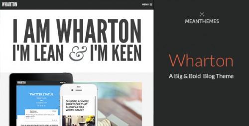 Wharton - Bold WordPress Blog Theme
