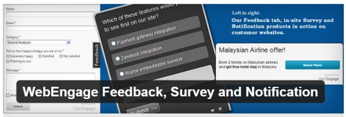 WebEngage Feedback, Survey and Notification