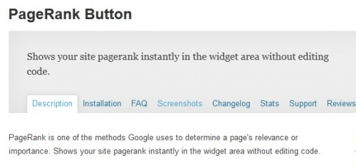 PageRank Button