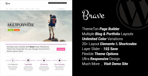 Brave - Clean Responsive Multipurpose Theme