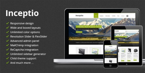 Inceptio - Responsive Multipurpose WordPress Theme