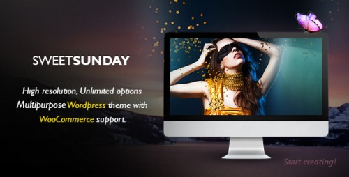 Sweet Sunday - Responsive WordPress Portfolio Theme
