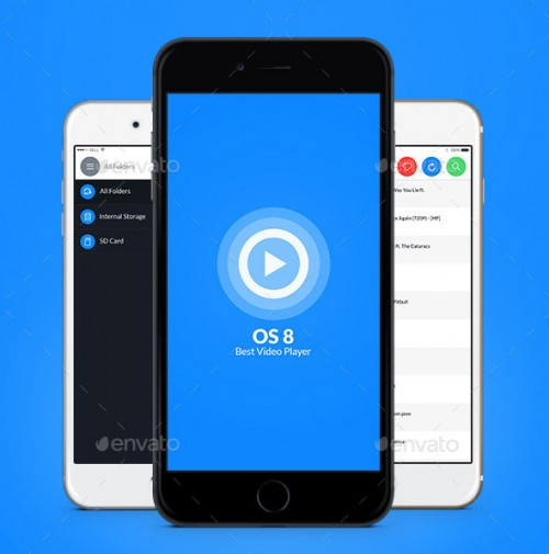 OS 8 Video Player UI Kit