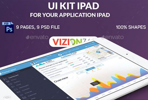 Rocket Apps UI Kit Tablet