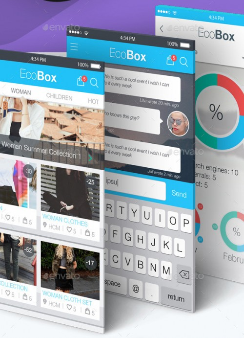 iPhone UI Kit Design