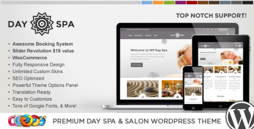 WP Day Spa & Salon WordPress Theme