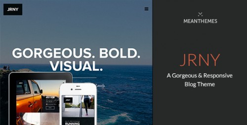 JRNY: A Gorgeous & Responsive WordPress Blog Theme