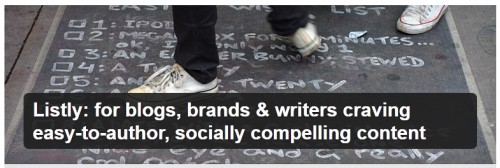 Listly for Blogs, Brands & Writers