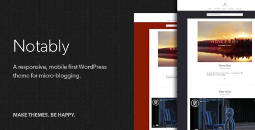 Notably - Responsive WordPress Blogging Theme