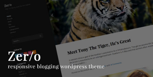 Zero Responsive Blog WordPress Theme