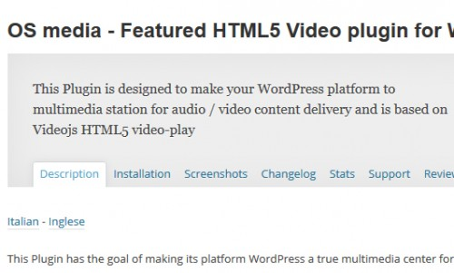 OS media - Featured HTML5 Video plugin