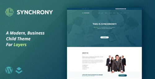 Synchrony - A Business Child Theme for Layers