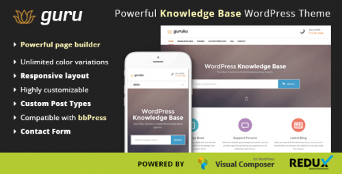 Guru - Responsive Knowledge Base WordPress Theme