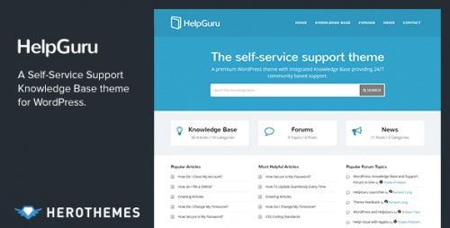 HelpGuru - Knowledge Base WordPress Theme