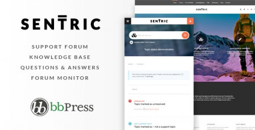 Sentric - Support Forum & Knowledge Base Theme