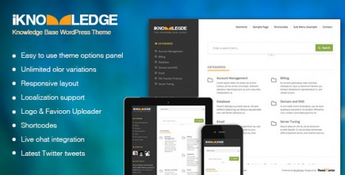 iKnowledge - Knowledge Base, Wiki WordPress Theme
