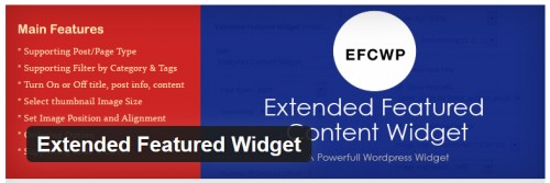 Extended Featured Widget