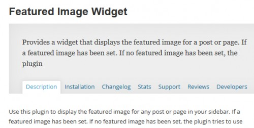 Featured Image Widget